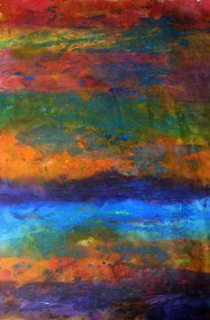 colorful monoprint