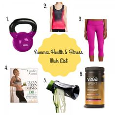 Summer Health & Fitness Wish List - Workout gear and kitchen tools to keep you motivated for the rest of the summer! http://sweetsuccess.es