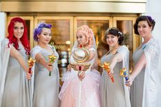 Michelle & William's Art Deco Sailor Moon-inspired moonlight gala