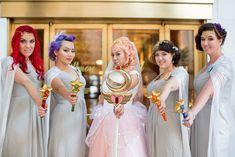 Michelle & William's Art Deco Sailor Moon-inspired moonlight gala