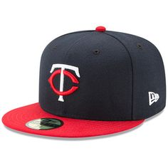 Minnesota Twins New Era Youth Authentic Collection On-Field Road 59FIFTY Fitted  Hat - Navy Red 489d7b0cb49f