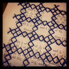 paper stitch.  I've got to try this!