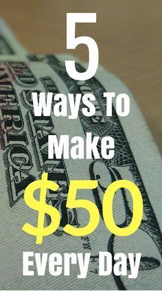 Here's how to make an extra $50 dollars per day without a job! If you're in need of money for whatever reason check out this list!