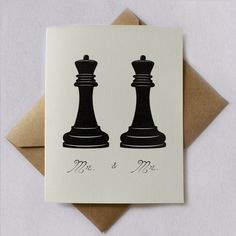 Gay Wedding / Same Sex Wedding Kings by TwoPenguinsCards on Etsy, $4.50