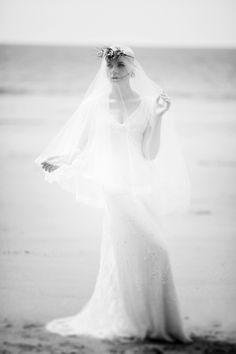 Boho Beach shoot with Christine Trewinnard wedding dress