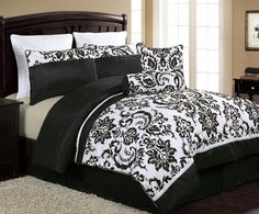 Vermont grey queen 8 piece comforter bed in a bag set chic home http