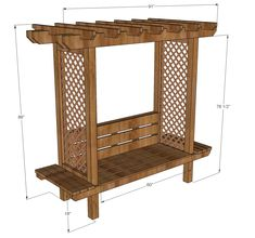 Outdoor Bench with Arbor | Ana White