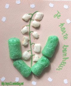 Lilly of the Valley with packaging peanuts