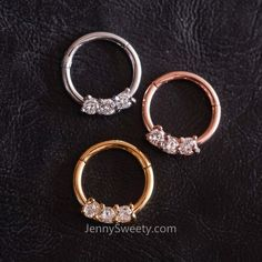 [ Materials ] - Surgical stainless steel - Zircon [ Measurement ] - Gauge: 16 G mm) - Inner diameter: Septum Jewelry, Cartilage Earrings, Septum Ring, Jewelry Rings, Hoop Earrings, Medusa Piercing, Ear Piercings, Cartilage Hoop, G 1