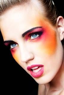 Zoë Clark Make Up Agency offering make up courses and lessons, wedding make up service and corporate makeup events. 1980s Makeup And Hair, 1980 Makeup, 1980s Hair, Retro Makeup, Clown Makeup, Hair Makeup, Bright Makeup, Colorful Makeup, Face Paint Makeup