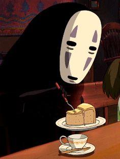 Spirited Away - No Face eating cake