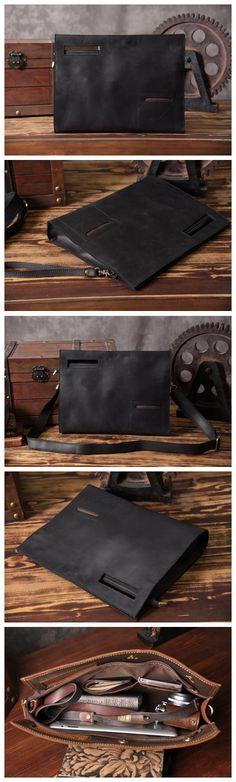 Original Design Vintage Style Leather Men Clutch iPad Case Messenger Handbag Men Fashion Bag 14141 Overview: Design: Vintage Style Leather Clutch In Stock: 4-5 days For Making Include: Only Clutch Cus