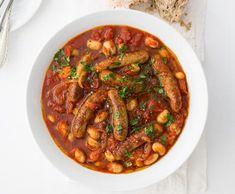 Fazole s klobáskami z jednoho hrnce | Recepty Albert Quinoa, October, Beef, Cooking, Health, Recipes, Food, Bulgur, Meat