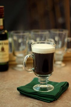 A classic Irish Coffee for St Patty's Day!