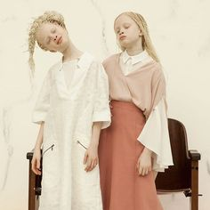 """<p>11-year-old twins from São Paulo, Lara and Mara Bawar unique beauty and pale features caught the eye of the fashion photographer Vinicius Terranova who started to work with the young models as part of his own project called Flores Raras (Rare Flowers). """"I came across the models in a video. They are incredibly beautiful and…</p>"""