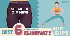 These 6 moves will tone and strengthen the muscles in your hips, thighs, abs, and buttocks. It's the best way to eliminate hip dips forever!