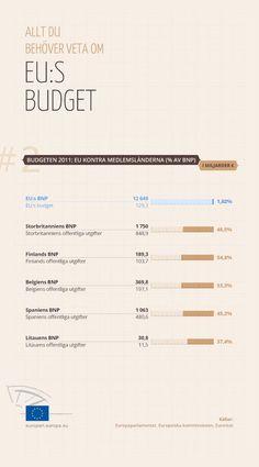 Så stor är EU:s budget jämfört med medlemsländernas