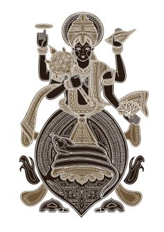 Kurma (the turtle) one of the first two avatars of Lord Vishnu who is the maintainer/ preserver of the universe. All 10 of his avatars represent the past and future forms in which he has come to restore the balance of good and evil. By Poonam Mistry Indian Artist, Hindu, Bonsai Tattoo, Art Forms Of India, Cool Artwork, Vishnu Incarnation, Art, Vishnu, Sacred Art