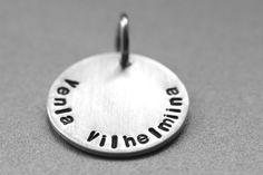 Koru omalla tekstillä #lumoan Washer Necklace, Cufflinks, Accessories, Jewelry, Jewlery, Jewerly, Schmuck, Jewels, Jewelery