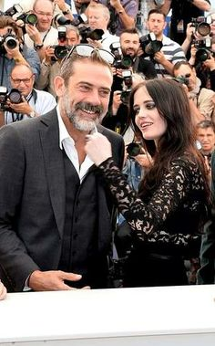 Jeffrey Dean Morgan with Eva Green | 'The Salvation' Photocall at Cannes Film Festival 2014