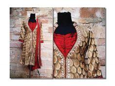Handworked Jamwar Silk open neck sherwani Indian Women's Designer Suit/ Salwar Kameez  by Priti Kamath Sahani on www.tadpolestore.com