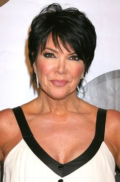 Short Hair Styles For Women Over 50 | of Kris Jenner haircut: Chic short black pixie cut for women over 50 ...