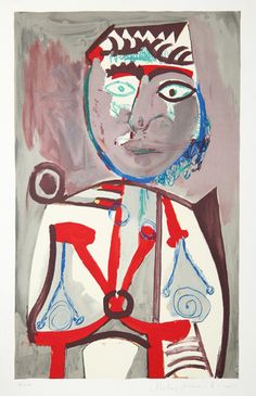 Title: Personnage Year of Original: 1970 Year of Publication: 1979-1982 Medium: Lithograph on Arches Paper Edition: 500, 34 AP's Paper Size: 29 x 22 inches Ref #: J-154