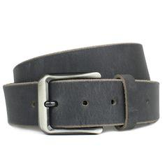 Brown Genuine Full Grain Leather Belt with Nickel Free Titanium Buckle Roan Mountain Titanium Belt Nickel Smart