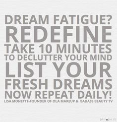 Whats your top 5 dreams?