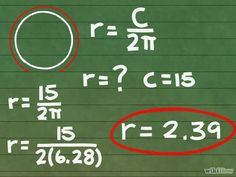 Titel afbeelding Calculate the Radius of a Circle Step 4
