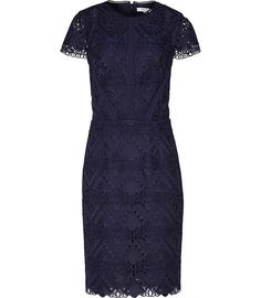 The indigo-blue Liza dress is the only occasionwear dress you'll need this season. Cut from statement graphic lace that's designed to reveal a touch of the same-tone lining, it's an elegant take on a trend-focussed look. Wear it with nude heels to visually lengthen the leg and add a sleek clutch for a polished final touch.