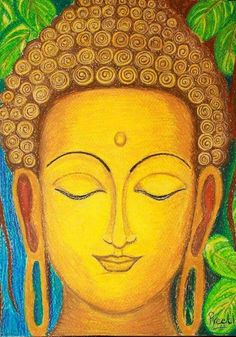"""""""Life doesn't get easier or more forgiving, we get stronger and more resilient. Buddha Drawing, Buddha Painting, Mural Painting, Buddha Artwork, Buddha Kunst, Buddha Zen, Buddha Peace, Tanjore Painting, Indian Art Paintings"""