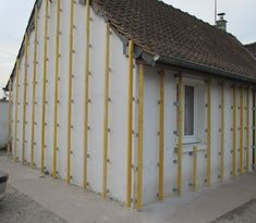 External Insulation, Shed Office, Yard Sheds, House Cladding, Timber Structure, Roof Trusses, Passive House, Wood Siding, Wooden Projects
