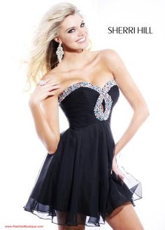Sherri Hill Short Dress 2944 at Peaches Boutique