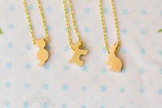 Gold Plated Brass Charm Necklace by SweetAuburnStudioKid, $22.00