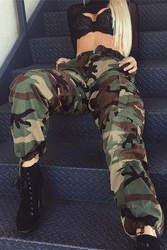 Compre Calça Camuflada Exercito Feminina   UFashionShop