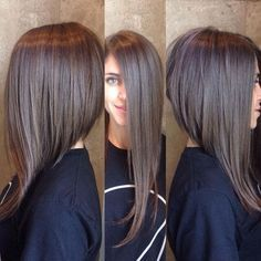 Love this dramatic A-Line Not so short in back. Love the drastic angle