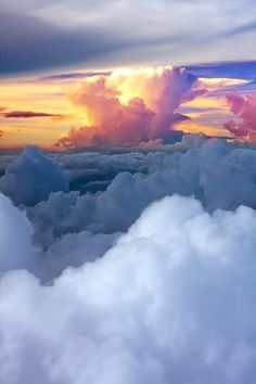 """Clouds come floating into my life, no longer to carry rain or usher storm, but to add color to my sunset sky. Above The Clouds, Sky And Clouds, Aesthetic Iphone Wallpaper, Aesthetic Wallpapers, Sunset Sky, Dream Garden, Art Pictures, Girly Pictures, Cute Wallpapers"