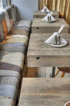 Rustic family dinner table and bench, idea from a restaurant