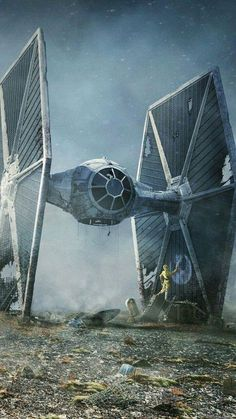 TIE Fighter and droids