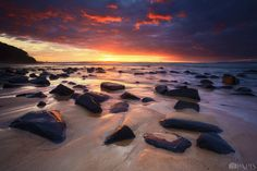 Beautiful sunset over Tea Tree Bay in Noosa National Park.