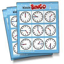 Bingobrickor klockan