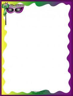mardi gras worksheets | Mardi Gras Printable Stationery, Stationery, Stationery - Free ...