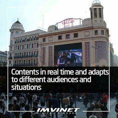 """The traditional outdoor advertising does not leave much room for maneuver since usually """"X"""" spaces are contracted during a certain time and the message can not be modified. In contrast with the digital signage the advertiser has the power to modify the contents in real time. For example you can display screens with constantly updated information or contents that change according to the time of day. And of course this option allows you to react quickly and adapt your message to optimize…"""