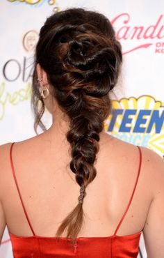 Lucy Hale's cool chunky braid