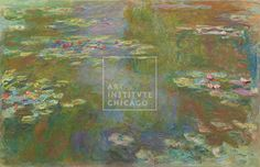 The deep calm of an aquatic garden—Claude Monet, French, Water Lily Pond, 1917/19, Oil on canvas, Gift of Mrs. Harvey Kaplan, The Art Institute of Chicago (Image No. 00000208-01) Painting, Impressionism