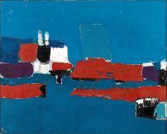 Nicolas de Staël, Méditerranée, Le Lavandou (1952) on ArtStack #nicolas-de-stael #art