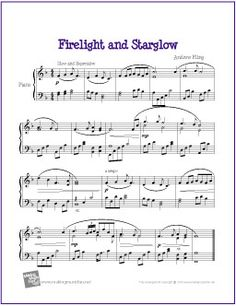 Firelight and Starglow by Andrew Fling   Free Sheet Music for Easy Piano - http://makingmusicfun.net/htm/f_printit_free_printable_sheet_music/firelight-and-starglow-piano.htm