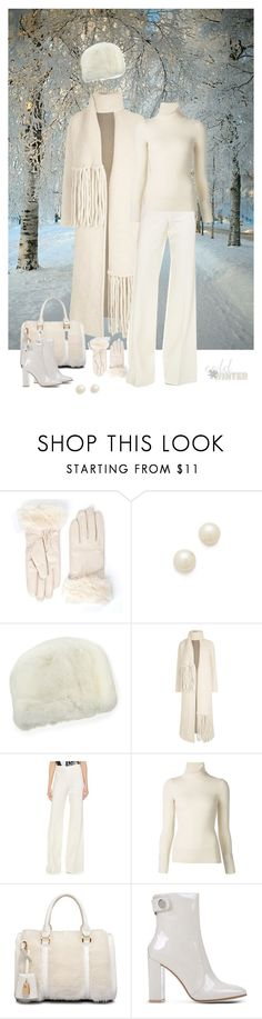 """""""Winter in White"""" by dezaval ❤ liked on Polyvore featuring Juliet & Company, Neiman Marcus, Chloé, KaufmanFranco, Emanuel Ungaro and Gianvito Rossi"""