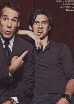 Just started watching Heroes... mostly because Milo Ventimiglia... and because I'm always about 5 years behind on tv shows... and because it's awesome.